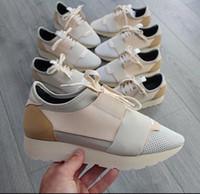Moda lüks Tasarımcısı Sneaker Erkek Kadın Günlük Ayakkabılar Gerçek Deri Kutusu US5-12 ile açık havada Eğitmenlerini sivri burun yarışı Runner Ayakkabı Mesh
