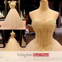 2019 Bridal Wedding Dresses Ball Gowns Sweetheart Sweep Trai...