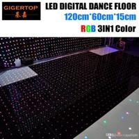 Rabatt Preis 120cm * 60cm führte RGB-Digital-Tanzfläche 4ftx4ft Größe zusammenbauen Unterstützung Nicht-Wasserdichtes Video / Muster / Text Wiedergabe Gigertop Licht
