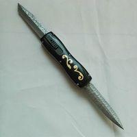 Benm farfalla Dibetou doppia lama a doppia azione D2 Lama Cupronickel + ottone pieghevole di campeggio di caccia sopravvivere coltello 1pcs Adul