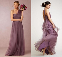 최신 컬렉션 신부 들러리 드레스 주름진 한 숄더 웨딩 파티 드레스 사용자 정의 만든 하녀 명예 가운
