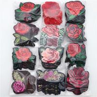 Fiore ricamo di applique ferro sulle zone in tessuto sitcker sacchetto di vestiti Badge per Fai da te