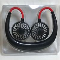 T Colgante ventilador del cuello 4 colores movimiento USB fan viaje perezoso creativo escritorio coche mini fan