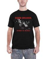 Código camiseta anaranjada cables en Banda Sangre nueva para hombre del logotipo oficial Negro Talla M