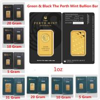 5/10/20 / 31Gram Perth Mint Bullion Australie Bar Bar noir vert Blister Qualité Hot Croisement cadeaux Accueil Décorations Artisanat métalliques