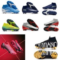 meilleur Superfly 7 Elite CR7 SE CR7 Football Crampons 360 Mercurial Superfly FG Football Chaussures Haute Cheville Cristiano Ronaldo Hommes Football Bottes
