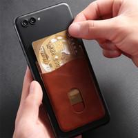 بطاقة جلد رجل الأعمال حامل المحفظة ملصق اللاصقة بطاقة الائتمان رقم الهاتف المحمول الجيب الخلفي حالة ملصقات
