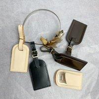 Etiquetas de equipaje Accesorios de viaje de sello caliente Etiqueta de la maleta de alta calidad Personalizada Personalizada Custom Initial Business Bag Etiquetas Tanned Cuero Tag