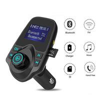 Kit de voiture Bluetooth BLUETOOTH Émetteur audio Emetteur radio Radio Charger USB prend en charge la carte TF / Micro SD avec emballage