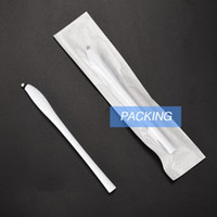 Descartável Microblading Canetas com maquiagem 18U Pinos permanente branco agulhas Sobrancelha bordados Lâminas para os lábios cílios