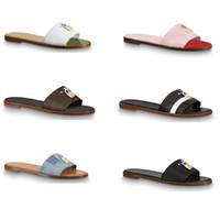 Designer Sandale Lock It Flat Mule Luxus Hausschuhe für Frauen 100% Echtes Leder Flache Flip Flops Clip Toe Große Größe 34-42