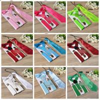 Enfants STRENDERS 3PCS / SET ENFANTS EXPÉRIÉS ENFANTS EXPRESSIONS Cravate Bow Cravate Bowtie Enddler Ensemble de tissu couleur solide pour garçons Filles FFA1955