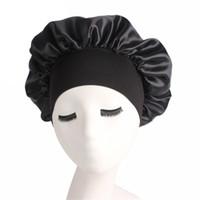 طويل العناية بالشعر النساء أزياء الساتان بونيه كاب ليلة النوم قبعة الحرير كاب رئيس التفاف النوم قبعة تساقط الشعر قبعات