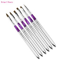6 Pcs Removable Nail Brushes Set Nail Art Design Drawing Pai...