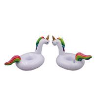 풍선 유니콘 음료 홀더 물 재미 장난감 수영 Entertament 여름 풀 파티 즐기기 햇빛 두 가지 옵션 PVC 소재