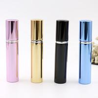 7ml Parfümflasche Aluminiumrohr helle Flaschen Zerstäuber Spray Reiseglas nachfüllbare Flasche 4 Farben Schwarz, Blau, Rotgold Parfums