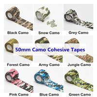 Protector de camuflaje Vendas de agarre de tatuaje 50 mm Autoadhesivo Elástico Camo Wraps Protección deportiva Cintas de 2 pulgadas Accesorios de agarre 12 rollos