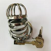 2020 Мужское Целомудрие устройства из нержавеющей стали Co Ca с дугообразным Cock Ring уретральных Звуками Шипастого кольца Садо-мазо Бандаж Секс-игрушка для мужчин