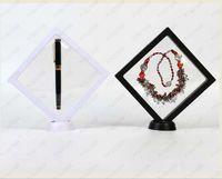 Klare Pet Membran Box Halter Floating Display Case Ohrring Edelsteine Ring Schmucksuspensionsverpackung