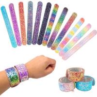 Filles sirène Paillettes Slap Bracelet snap Brillante Wristband Fashion Party Garçons et filles Bijoux enfants