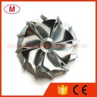TA31 409096-0014 42,55 / 60.25mm 6 + 6 лопастей Высокая производительность Турбо Биллет колесо компрессора для Komatsu 452012-0003 / 454114-0001 / 454177-0001