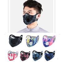 Radfahren Gesichtsmaske Außensporttraining Windsicher Staub-Beweis PM2.5 Anti-Verschmutzung Laufaktivkohlefilter waschbare Masken Maske