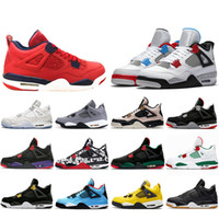 2019 Bred FIBA 4 4s Basketball Shoes Men Women Flight Cool G...