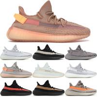 41ff7202c 2019 Static V2 Véritable Argile Zèbre Orange Gris Beluga 2.0 Baskets  Hyperspace Kanye West Chaussures De