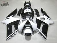 가와사키 닌자 ZX6R 2003 2004 ZX636 03 04 ZX6R 636 흑백 ABS 플라스틱 페어링의 bodykit에 무료 사용자 정의 사출 산 선물 키트