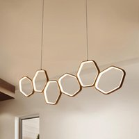 Lampade a sospensione moderne a LED minimalista per la sala da pranzo della cucina. Soggiorno. Lampada a sospensione a sospensione a sospensione colore bianco o caffè