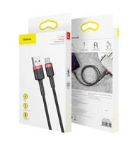 Baseus 3A Lade Schnelle USB Typ C Geflochtene Kabel für Samsung S8 Hinweis Weaving Datenleitung für ein Plus-5t 6 Charger Cord