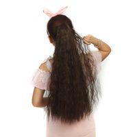 27 pulgadas de largo rizado peluca sintética Cola de caballo Mujeres garra en la cola de caballo del clip en la cola de potro del pelo rizado Estilo postizo