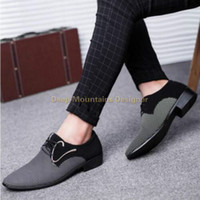 2019 Deep Mountains Designer Primavera autunno Uomo Casual Oxford Scarpe comode da uomo d'affari Business Wedding Party Dress Shoes