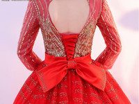 Abito lungo rosso con paillettes sexy rosso bordato lungo abito da principessa Abito medievale Abito rinascimentale Abito principessa Royal victoria