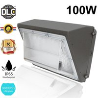 Wall Light pack DLC UL LED 40w 60w 80w 100w 120w all'aperto lampada del giardino del supporto della parete del LED CA 90-277V 5500K Mean Well driver