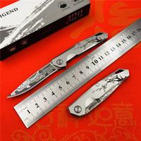 Changfeng TIGEND CF5303 katlanır bıçak titanyum alaşımlı kolu Şam çelik açık tırmanma aracı