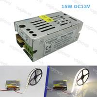 Transformateurs d'éclairage DC12V 15W ACCESSOIRES D'ARGENT EN ALUMINIUM 110V-240V pour 3528 5050 5730 Strip Light DHL