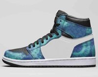 2020 New 1 Tie- Dye Men Women Basketball Shoes 1s Tie Dye Spo...