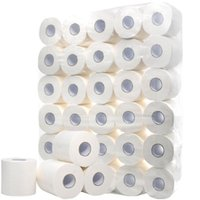10 Roll 4 Layers White Toilet Roll Paper Tissue Toilet Tissu...