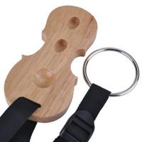 PUNK Solid Wood Cello Endpin Rest antiscivolo Stopper Anchor Protector in Cello Shape 3 fori Holder (2A)