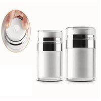 15g 30g 50g 50g Airless Airlic Cream Jar rotondo Aspirapolvere Bottiglia Cosmetic Makeup Jars Pompa per imballaggio Bottiglia