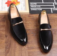 Brand New men Luxury Blue Black Penny Loafer Shoes Patchwork...