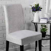 Lellen imitación tela cubierta de la silla del estiramiento cubiertas de la silla del asiento elástico Funda de banquetes en hoteles para cenar hogar de la boda