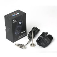 Neueste Version G9 Tick Enail Kit mit Quarz / Titan-Nagel Tragbare DNail Dab Kit für 14MM 18MM Bohrinsel Glas Wasser Bong