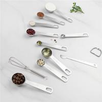 Aço inoxidável premium Colheres de medição para medir a seco e ingredientes líquidos Bakery Ferramenta Para Kitchen Cooking and Home Baking JK2001