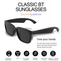 1 قطعة! نظارات شمسية بلوتوث لاسلكية بلوتوث مع تقنية الأذن المفتوحة تجعل الأيدي النظارات الشمسية المجانية سماعات بلوتوث مكالمات هاتفية لاسلكية