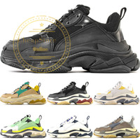 2019 Nouveau Paris Triple-S Designer Chaussures De Luxe Low Top Triple S Top Qualité Hommes Mode Casual Chaussures Femmes Chaussures de Plein Air US 4.5-11