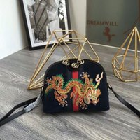 ccf7d06979ac New suede dragon embroidery Ophidia series shoulder bag shell bag 499621  black dragon ICONIC BAGS TOTES CROSS BODY BUSINESS MESSENGER BAGS