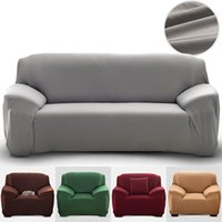 Solid Color Elastic Sofa Covers Spandex Modern Polyester Cor...