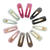INS HOT Girls résine Barrettes pour les femmes Retro creux Géométrie acrylique Épingle cheveux Barrettes pour les femmes Lady AHN35